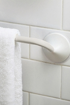 18 in. Friction Mount Towel Bar (White)
