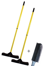 12 In Household Sweepa Rubber Broom