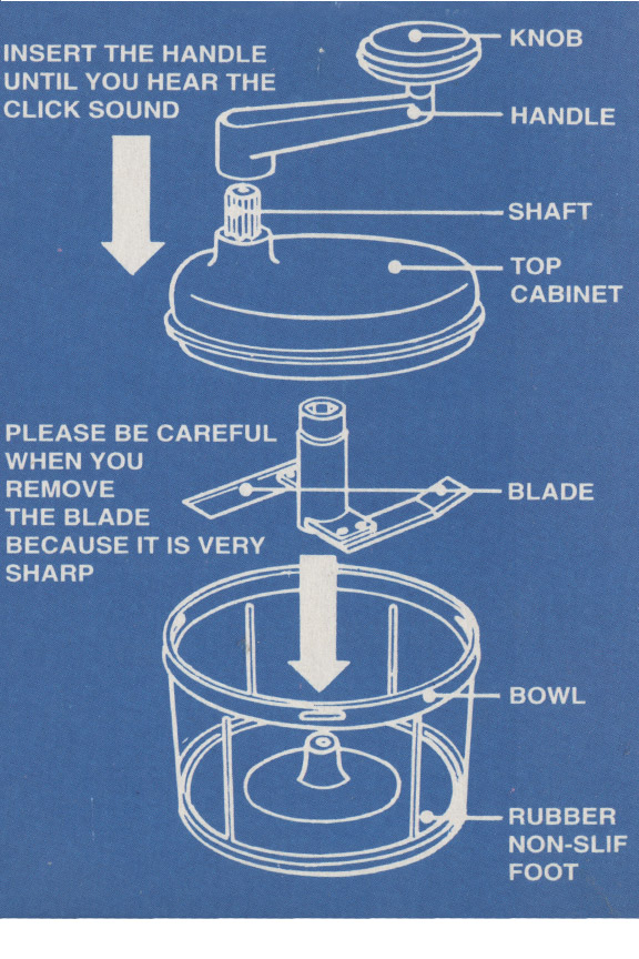 kitchenaid food chopper cleaning instructions