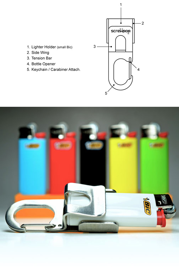 Lighter Holder A Clip Able Key Chain Tool From Screwpop